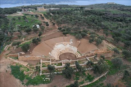 Restoration of the ancient theatre of Aptera